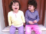 Two Turkish Girls sharing a laugh